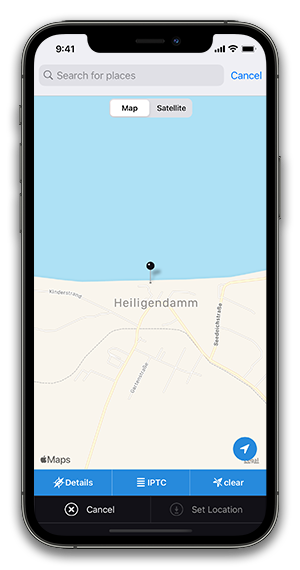 iPhone schreenshot app edit location